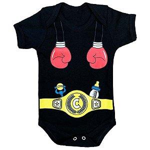 Body Bebê Campeão de Boxe