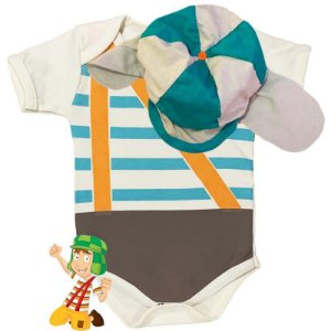Kit Body Bebê Turma do Chaves com Gorro