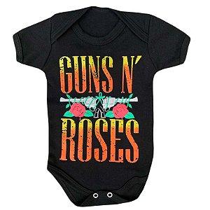Body Bebê Rock Guns N Roses