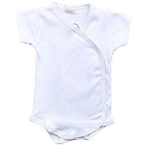Body Bebê Kimono Manga Curta Branco