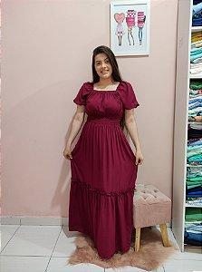 Vestido Longo Laura Bordô