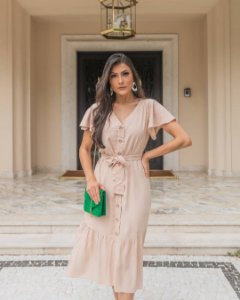 Vestido Cinthia Bege