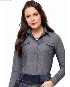 Camisa Manga longa Jeans Laura Rosa