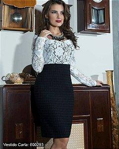 Vestido Preto & Branco
