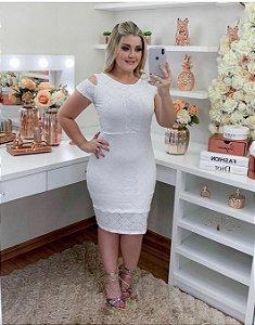 Vestido Vitória Laise Branco