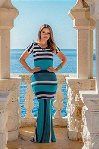 Vestido Joana Longo  Listrado