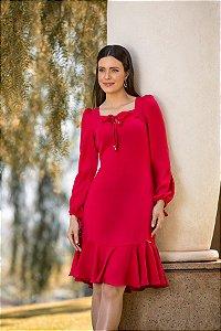 Vestido Vermelho Laura Rosa