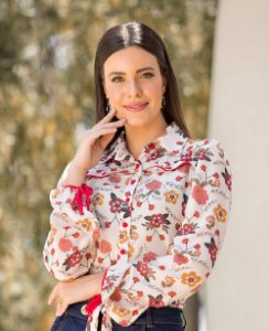 Camisa Estampada Laura Rosa