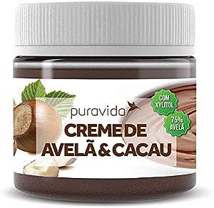 CREME DE AVELA E CACAU ZERO ACUCAR PURA VIDA 300G