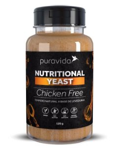NUTRTIONAL YEAST CHICKEN FREE PURA VIDA 120G