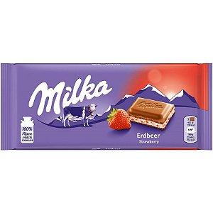 CHOCOLATE STRAWBERRY MILKA 100G
