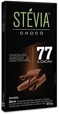 CHOCO ZER ACU ZER LACT 77 CACAU STEVIA CHOCO 80G