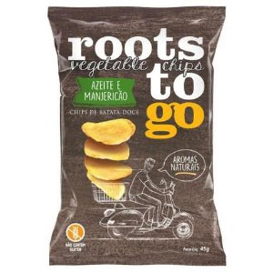 CHIPS BATATA DOCE AZEITE MANJERICAO ROOTS  GO 45G