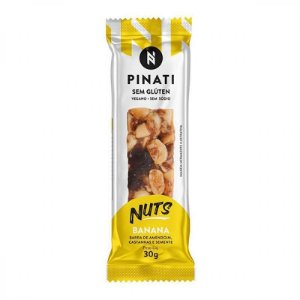 BARRINHA NUTS BANANA PINATE 30G