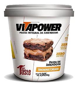 Pasta De Amendoim Brownie Cream 1kg Vitapower