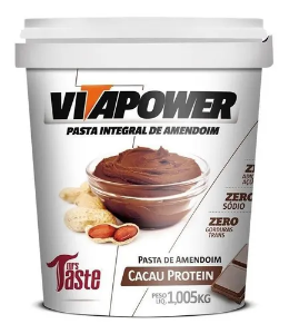 Pasta De Amendoim Cacau 1kg Vitapower