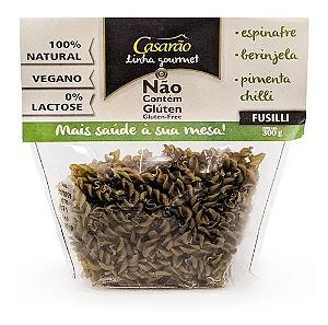 Penne Espinafre berinjela e pimenta chili sem gluten Casarão 300g