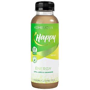 Kombucha Energy lima limao e gengibre khappy 355ml