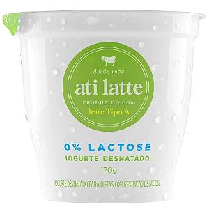 Iogurte Desnatado zero lactose Atilatte 170g
