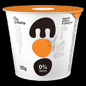 Iogurte laranja e gengibre sem lactose moo 130g