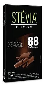 Chocolate 88% cacau STEVIA CHOCO 80g