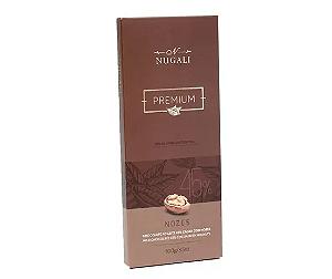 Chocolate ao leite 45% com Nozes Nugali  100g