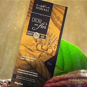 Chocolate amargo cacau em flor 70%  Nugali  100g