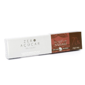 Chocolate amargo 70% sem açúcar  Nugali  40g