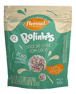 Bolinhas de doce de leite com coco sem lactose FLORMEL 60g