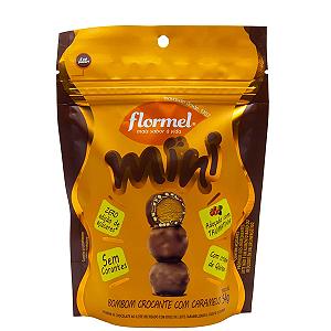 Mini bombom crocante com caramelo FLORMEL 54g
