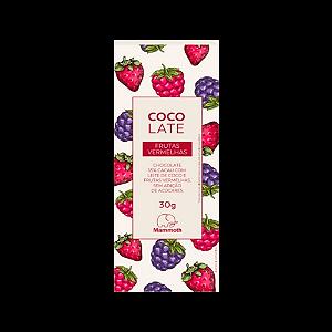 Chocolate com leite de coco 55% cacau com frutas vermelhas MAMMOTH 30g