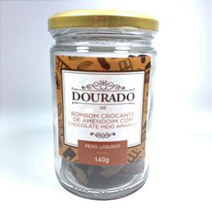 Bombom de crocante de Amendoim com chocolate ao leite Dourado 140g