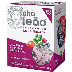 Chá Preparo gelado Chá Preto + Frutas Vermelhas Chá Leão 25g