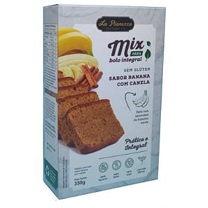 Mix bolo integral sem gluten banana com canela La Pianezza 350g