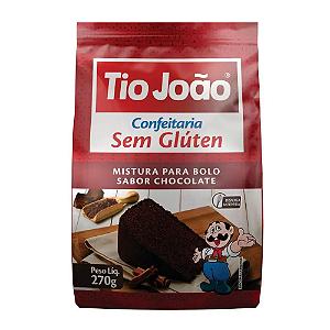 Mistura para bolo sabor chocolate sem gluten Tio João 270g