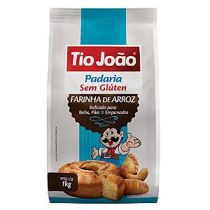 Farinha de arroz sem gluten Tio João 1kg