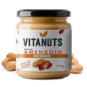 Pasta de Amendoim Integral Vitanuts 210g