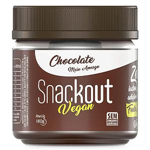 Doce chocolate meio amargo vegan Snackout 180g