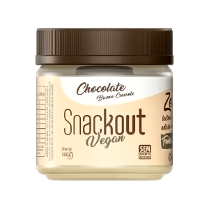Doce chocolate branco crocante vegan snackout 180g