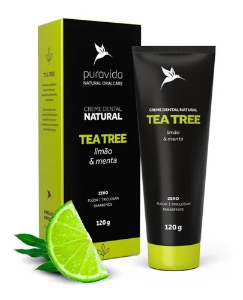 Creme dental Tea Tree Pura Vida 120g