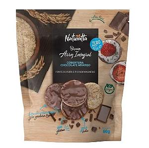 Biscoito de arroz integral zero açucar chocolate amargo Naturatta 60g
