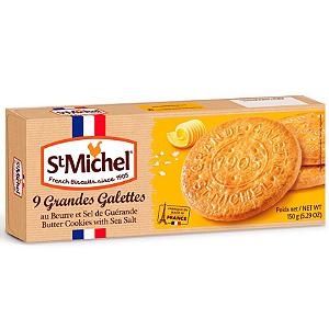 Biscoito frances  amenteigado 9 grandes galeettes St Michel 150g