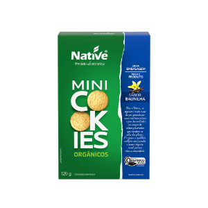 Mini Cookies Baunilha organico Native 120g