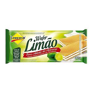 Wafer sabor limão zero açucar e lactose Lowçucar 115g