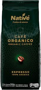 Cafe organico 100% arabica grãos Native 500g