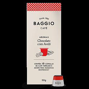 Cafe em capsula chocolate com avela Baggio 10 capsulas