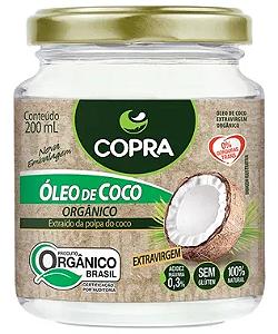 Oleo de coco extra virgem organico copra 200ml
