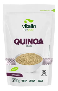 Quinoa branca grãos Vitalin 250g