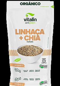 Farinha de linhaça e chia organica Vitalin 150g