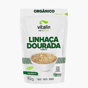 Farinha de linhaça dourada organica sem gluten Vitalin 150g